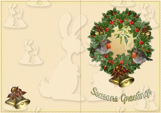 2t Holly Wreath Quick card-DWJ