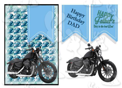 Fathers Day or Birthday(A5 Card No 35R)