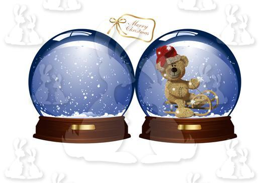 Snowglobe Shaped Card With Tag