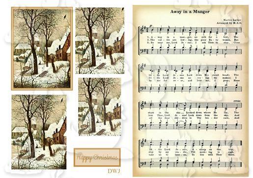 [9e]Vintage Snow scene-music back-DWJ