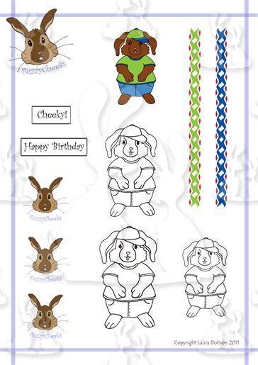 FuzzyCheeks Digi Stamps cheekybun