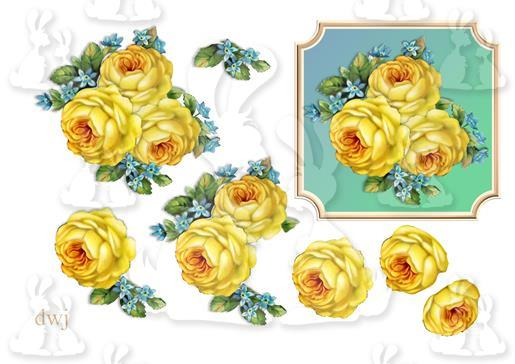 vintage rose decoupage full dwj