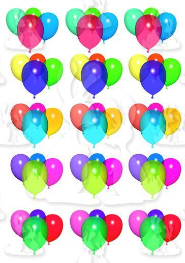 Multi Coloured Ballons