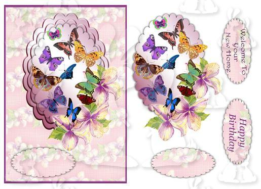 A5 Butterflies  ( Card No1)