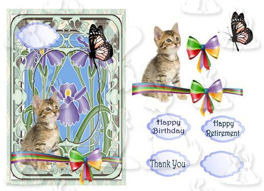Birthday or Thank you(A5 Card No 2S)