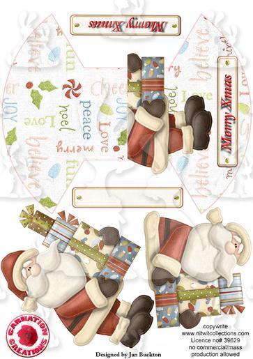 Rocker Card - Santa & pressies