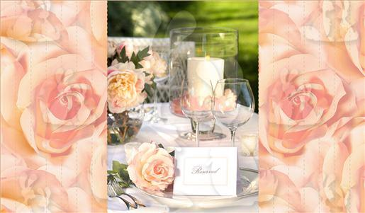 Peach Rose Tunnel Card Part A