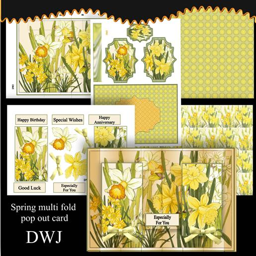 Spring Multi Fold Card kit 2-DWJ