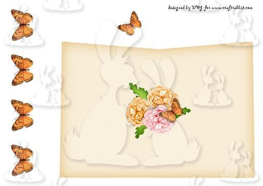 Birds and Blossom Kiss card E-DWJ