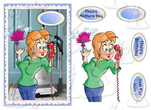 Mothers Day or Birthday(A5 Card No 32R)