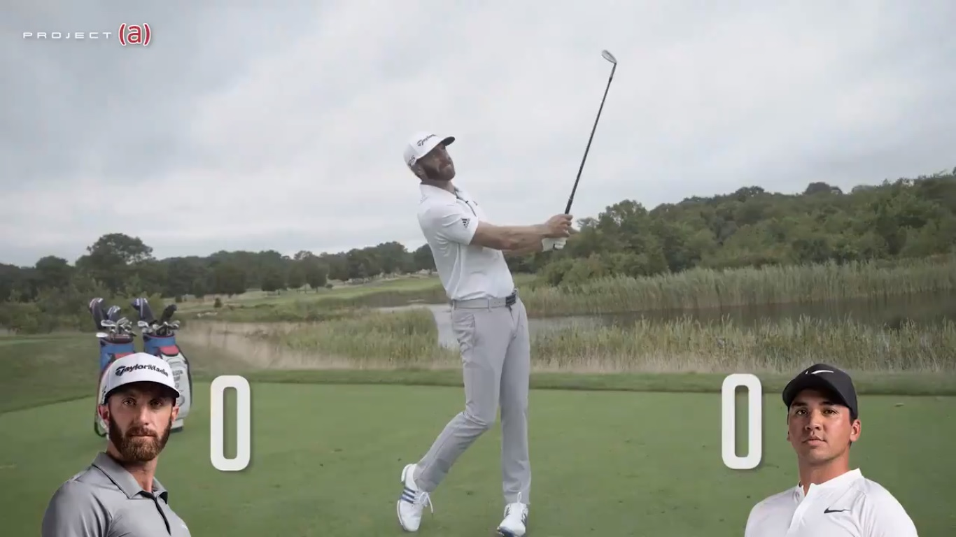 Dustin Johnson v Jason Day: TaylorMade Project (a) Spin Challenge
