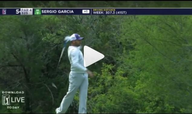 Sergio Garcia gets in strop, launches his Callaway Rogue driver in the trees!