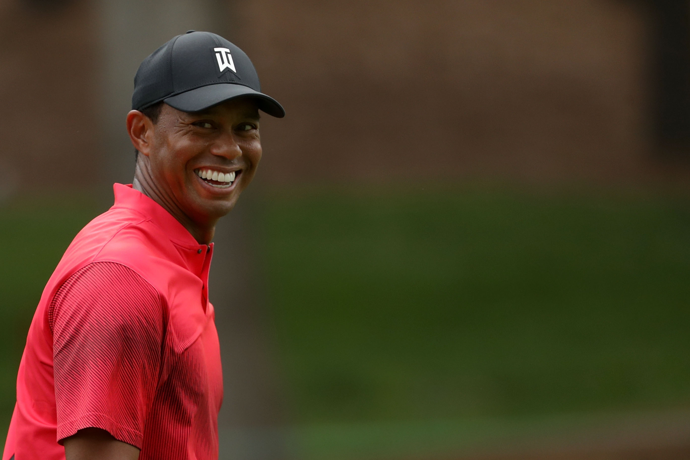 At TPC Sawgrass, Tiger Woods hits prettiest draw you'll ever see