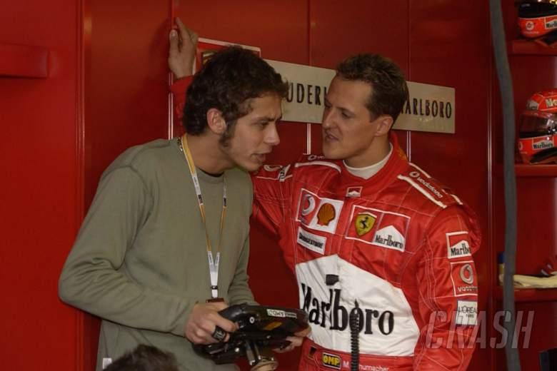 F1 Valentino Rossi Stunned Schumacher During 1st
