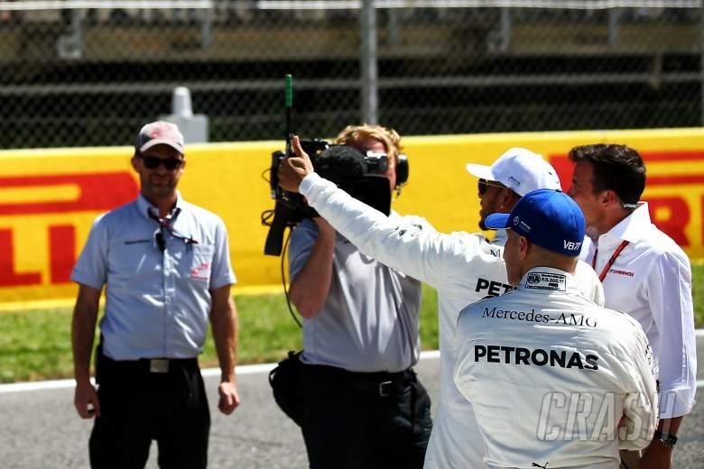 F1: F1 TV camera, Lewis Hamilton, Valtteri Bottas,