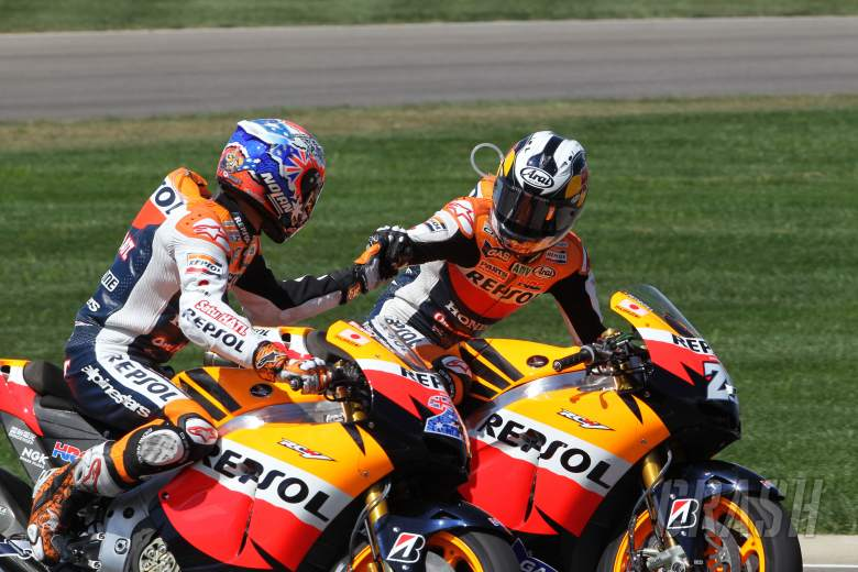 Stoner and Pedrosa, Indianapolis MotoGP 2011