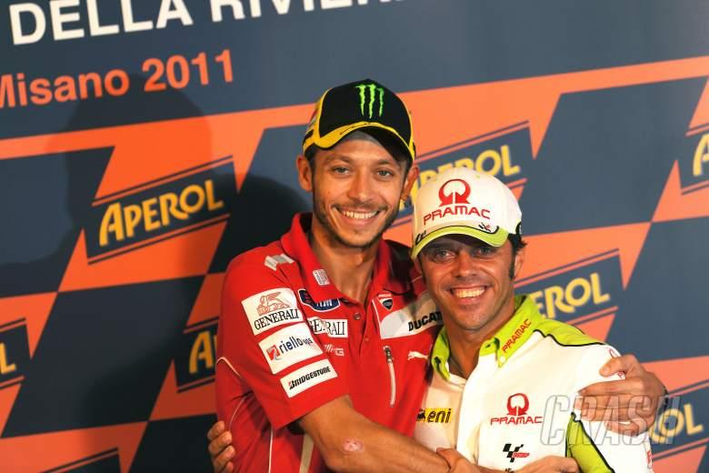 Rossi and Capirossi, San Marino MotoGP 2011