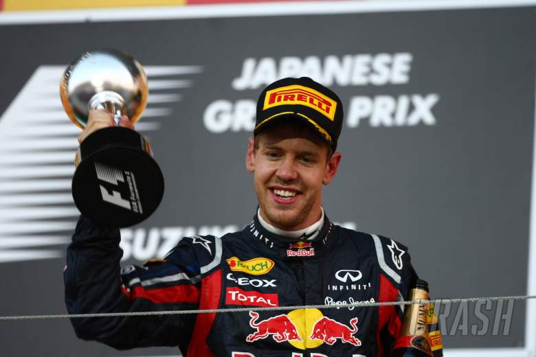 09.10.2011- Race, Sebastian Vettel (GER), Red Bull Racing, RB7 3rd position and World F1 Champion