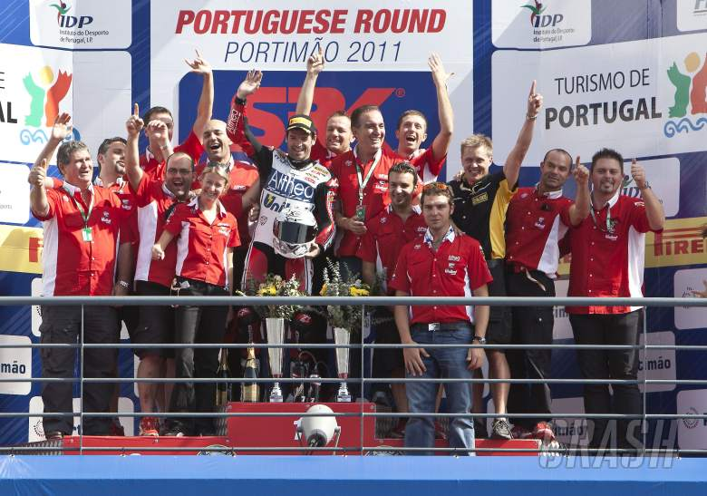 : Checa, Team Althea Ducati, Portuguese WSBK Race 1 2011