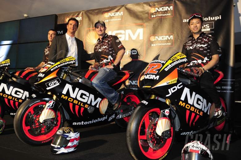 Forward Racing launch, De Angelis, Edwards, Takahashi, Jerez MotoGP test March 2012