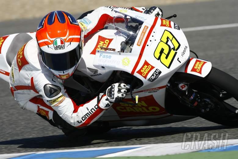 Antonelli, Jerez Moto2/3 tests, March 2012