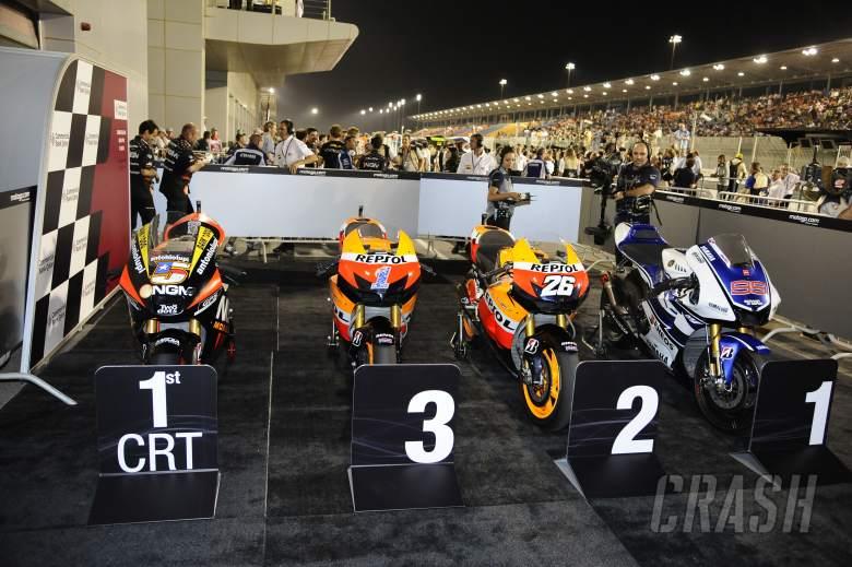 Parc ferme, Qatar MotoGP Race 2012