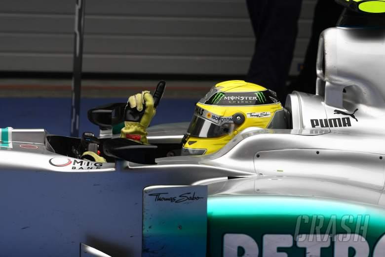 15.04.2012 - Race, winner Nico Rosberg (GER) Mercedes AMG F1 W03 is celebrating his victory