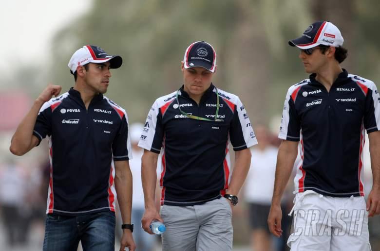 20.04.2012- Pastor Maldonado (VEN) Williams F1 Team FW34, Valtteri Bottas (FIN) and Bruno Senna (BRA