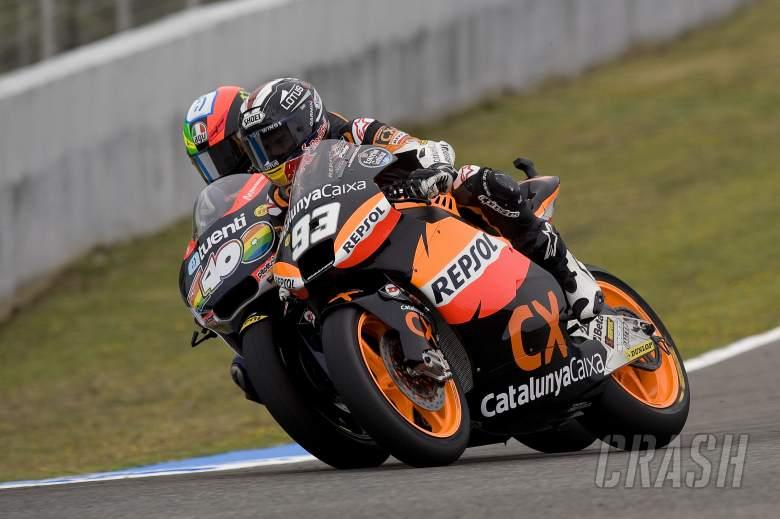 Espargaro and Marquez, Spanish Moto2 Race 2012