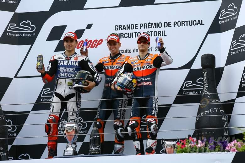 Podium, MotoGP race, Portuguese MotoGP 2012