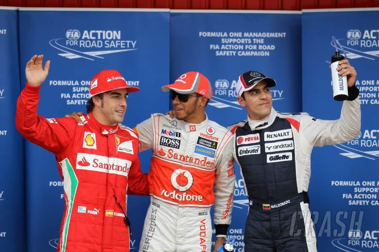 12.05.2012- Qualifying, Lewis Hamilton (GBR) McLaren Mercedes MP4-27 pole position, 2nd position Pas