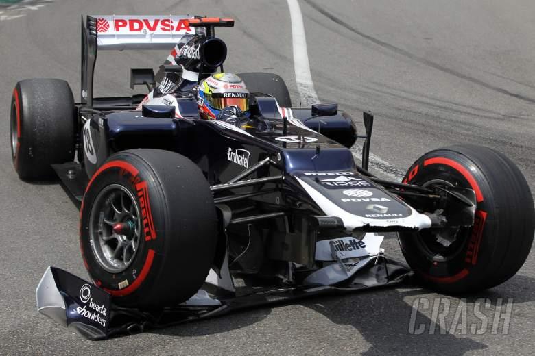 27.05.2012- Race, Pastor Maldonado (VEN) Williams F1 Team FW34 crash