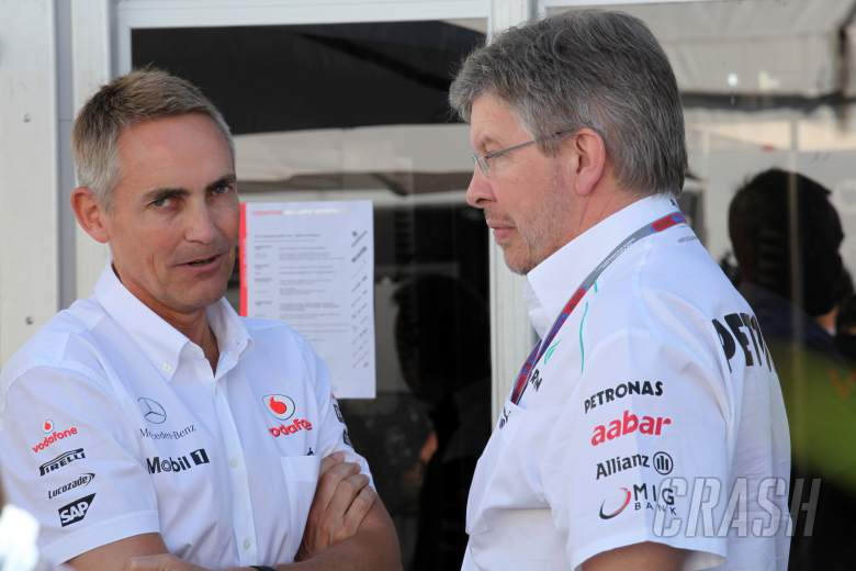 ,  - 09.06.2012- Martin Whitmarsh (GBR), Chief Executive Officer Mclaren and Ross Brawn (GBR), Team Princ