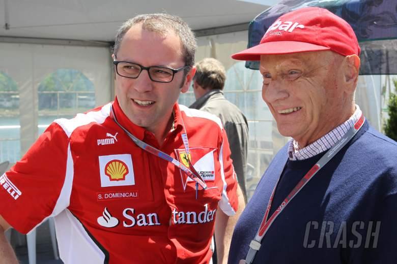 , , 09.06.2012- Stefano Domenicali (ITA), Team Principal and Nikki Lauda (AU)