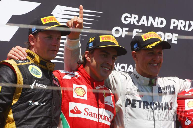 ,  - 24.06.2012- Race, Fernando Alonso (ESP) Scuderia Ferrari F2012 race winner, 2nd position Kimi Raikko