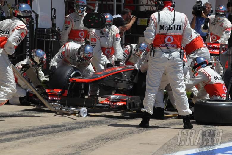 24.06.2012- Race, Pit Stop, Lewis Hamilton (GBR) McLaren Mercedes MP4-27