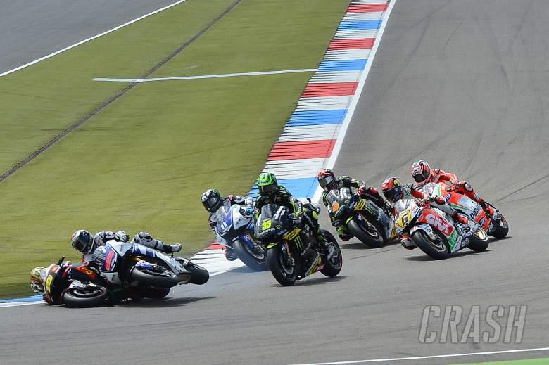 Lorenzo and Bautista crash, Dutch MotoGP 2012