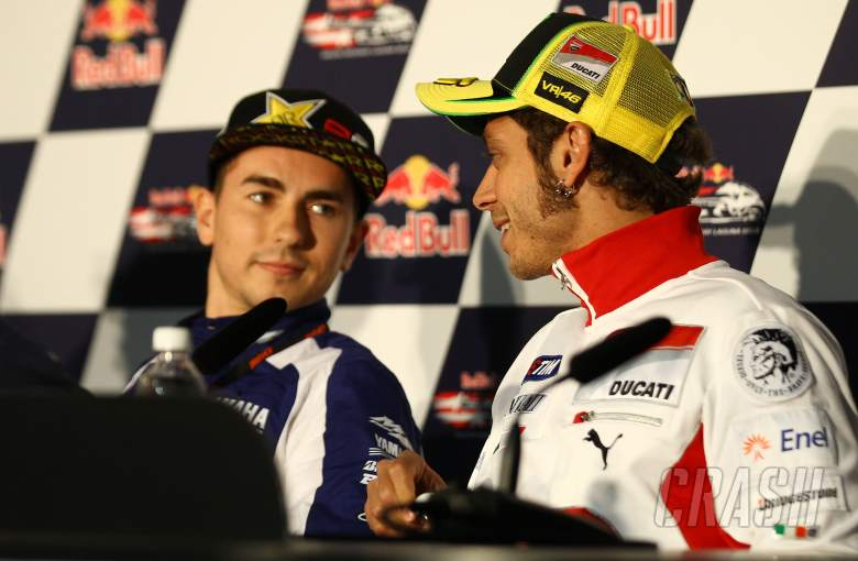 Lorenzo and Rossi, USA MotoGP 2012
