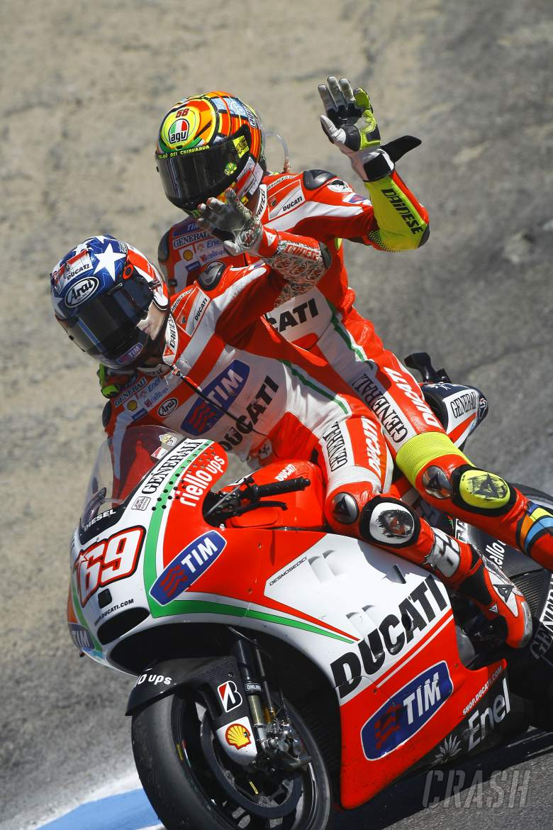 , , Hayden and Rossi, USA MotoGP 2012