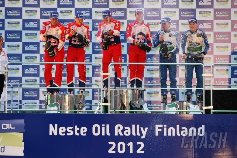 Rally Finland podium, 2012