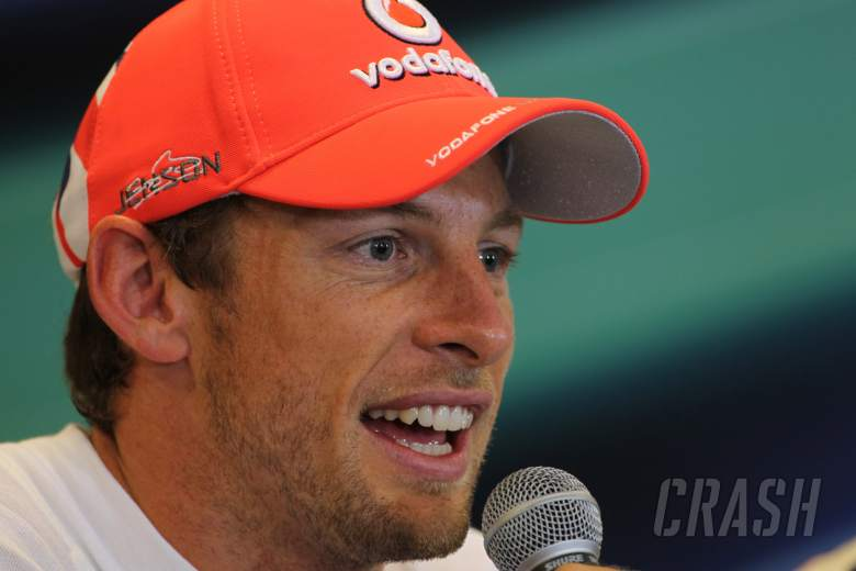 , , 01.09.2012- Qualifying, Press conference, Jenson Button (GBR) McLaren Mercedes MP4-27