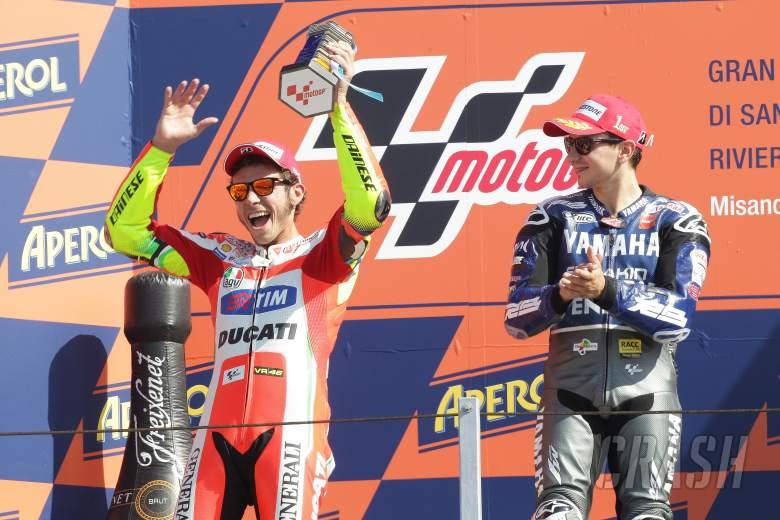 Rossi and Lorenzo, San Marino MotoGP 2012