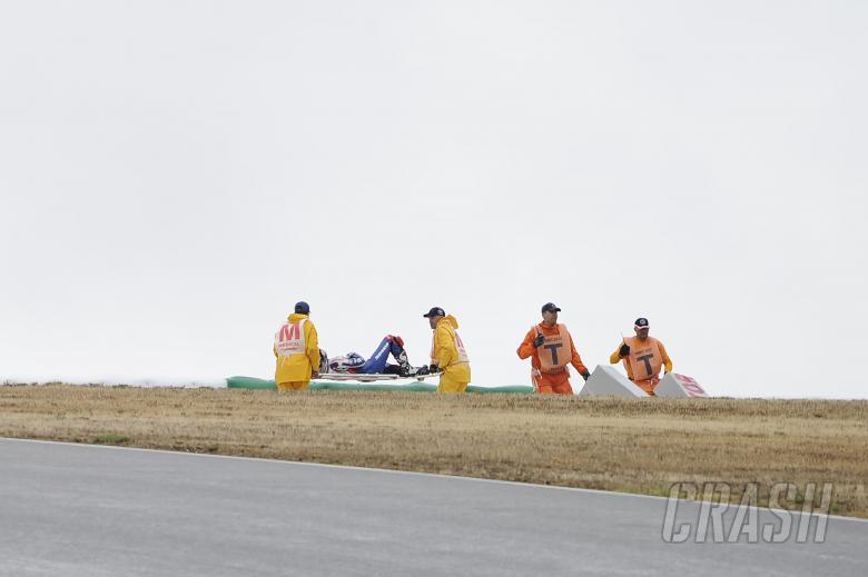 Melandri, Ambulance, after crash, Portuguese WSBK  Race 1 2012