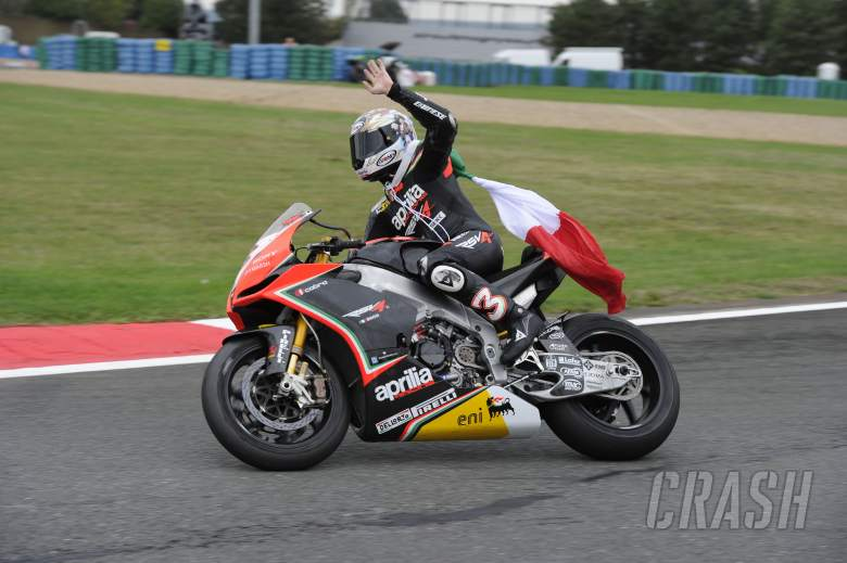 Biaggi, 2012 World Superbike Champion, French WSBK Race 2 2012