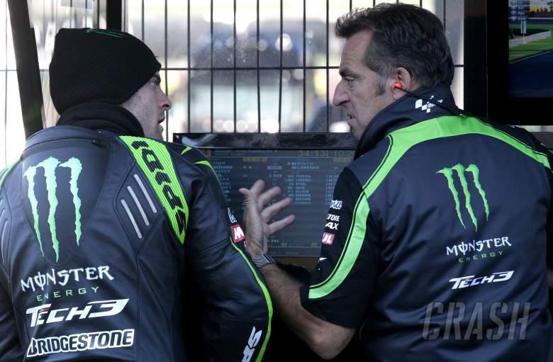 Crutchlow and Poncharal, Valencia MotoGP 2012