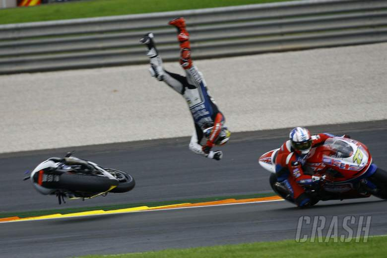 , , Lorenzo crash, Valencia MotoGP 2012