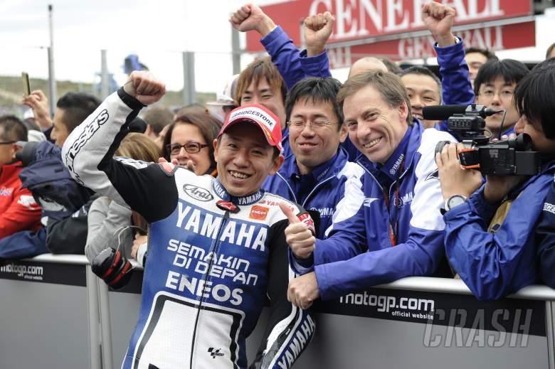 ,  - Nakasuga, Jarvis, Valencia MotoGP Race 2012