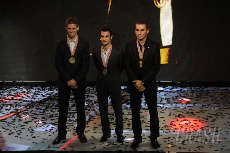 Stoner, Pedrosa, Lorenzo, FIM MotoGP Awards 2012, Valencia MotoGP 2012