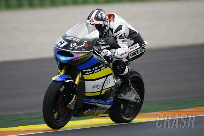 Takahashi, Moto2 test,12th November 2012 Valencia