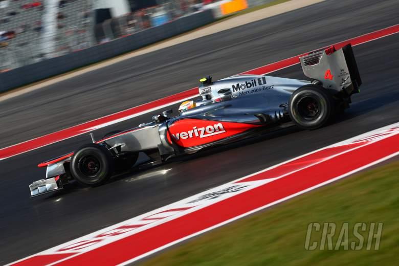 17.11.2012 - Free Practice 3, Lewis Hamilton (GBR) McLaren Mercedes MP4-27